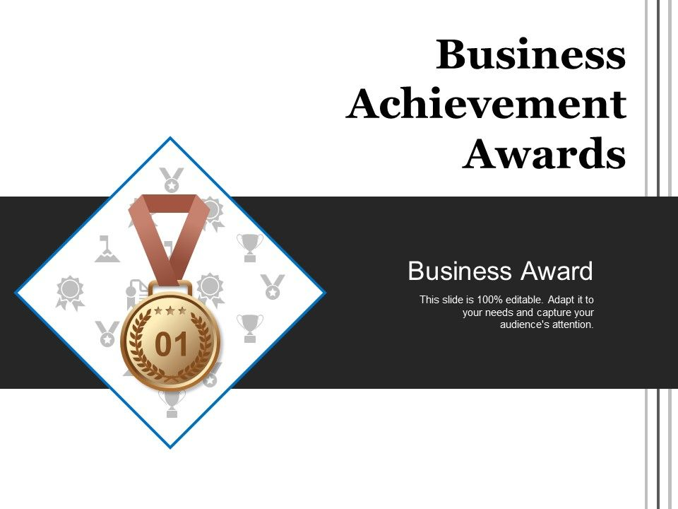 business achievement awards sample of ppt presentation