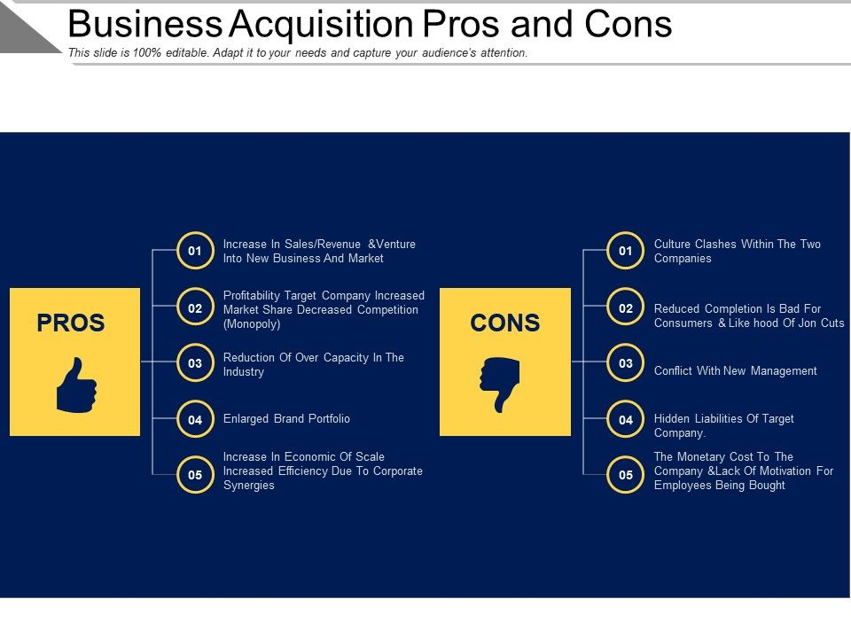 pros and cons for takeover and In this article, we will look at 1) what is a takeover, 2) why do businesses plan takeovers of other companies3) what are the phases of initiating and completing a takeover and 4) pros and cons of takeovers.