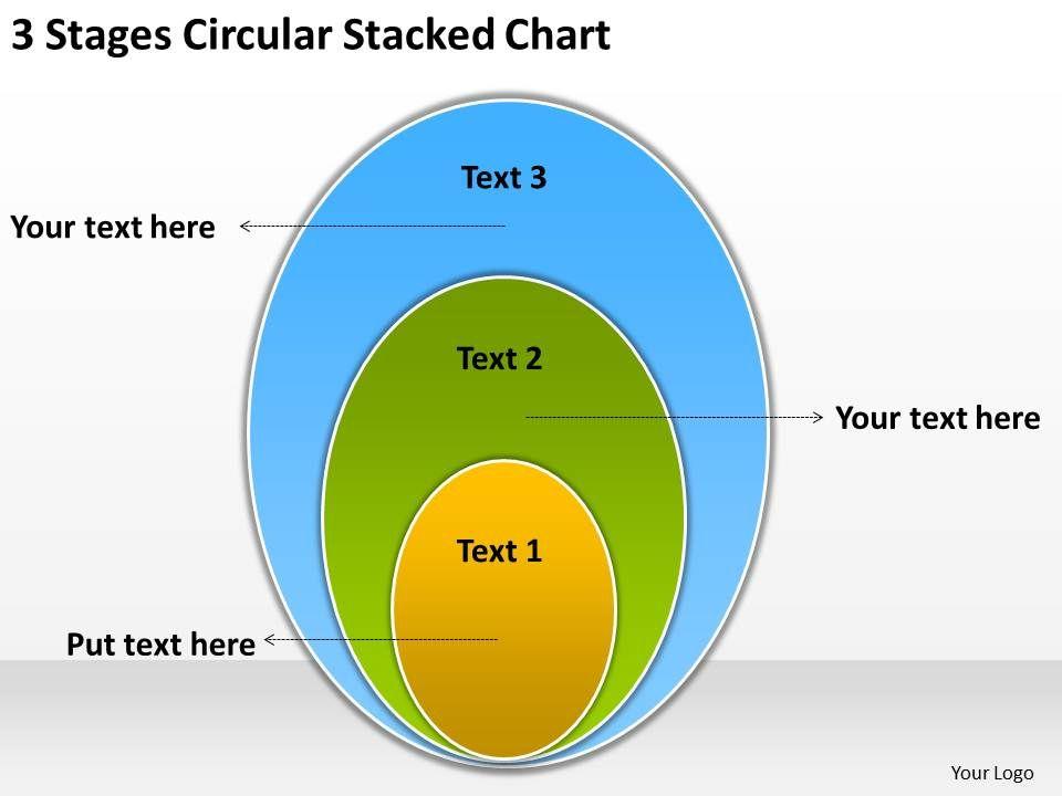 Business Activity Diagram Circular Stacked Chart ...