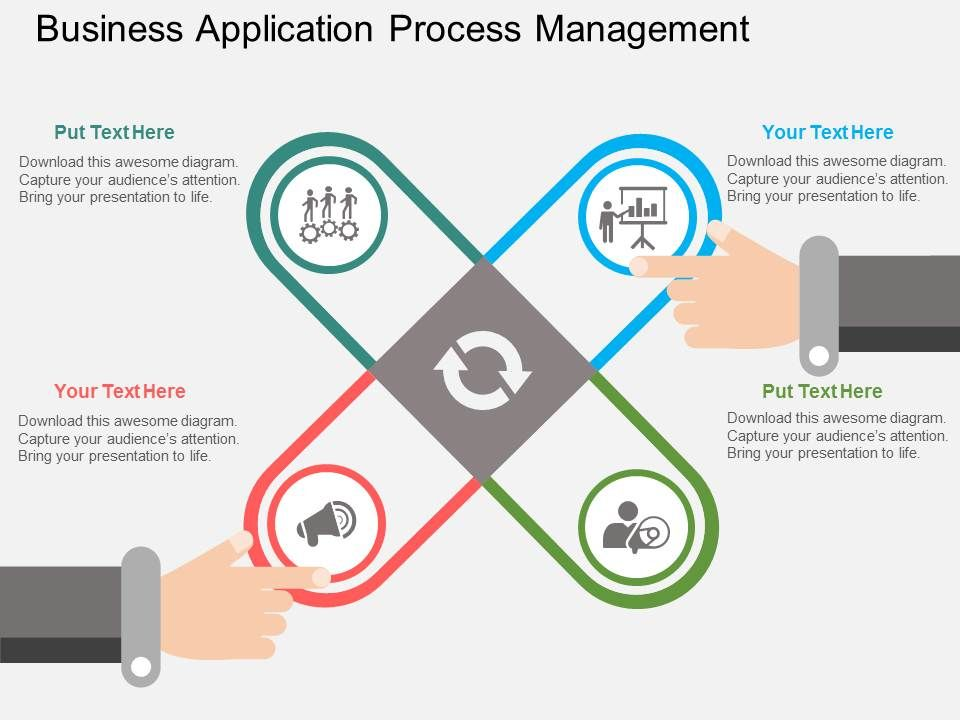 business_application_process_management_flat_powerpoint_design_Slide01