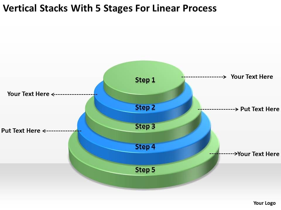 business_architecture_diagrams_stacks_with_5_stages_for_linear_process_powerpoint_templates_Slide01