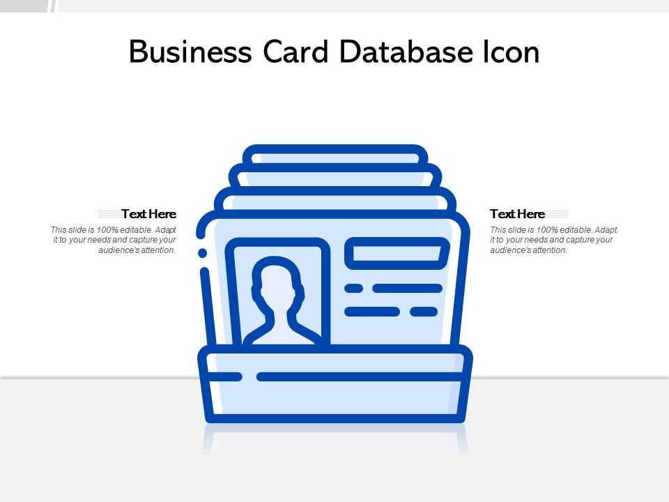 Business Card Database Icon