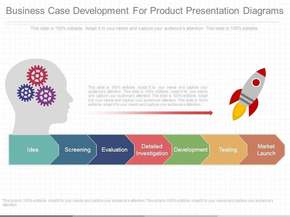 Business Case Development For Product Presentation Diagrams Slide01 Slide02