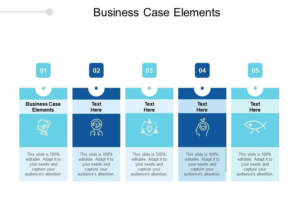 Business Case Elements Ppt Powerpoint Presentation Outline Background Designs Cpb