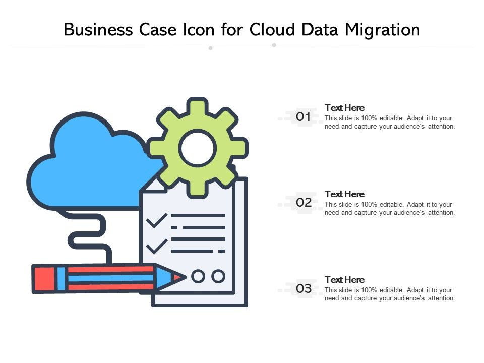 Business Case Icon For Cloud Data Migration