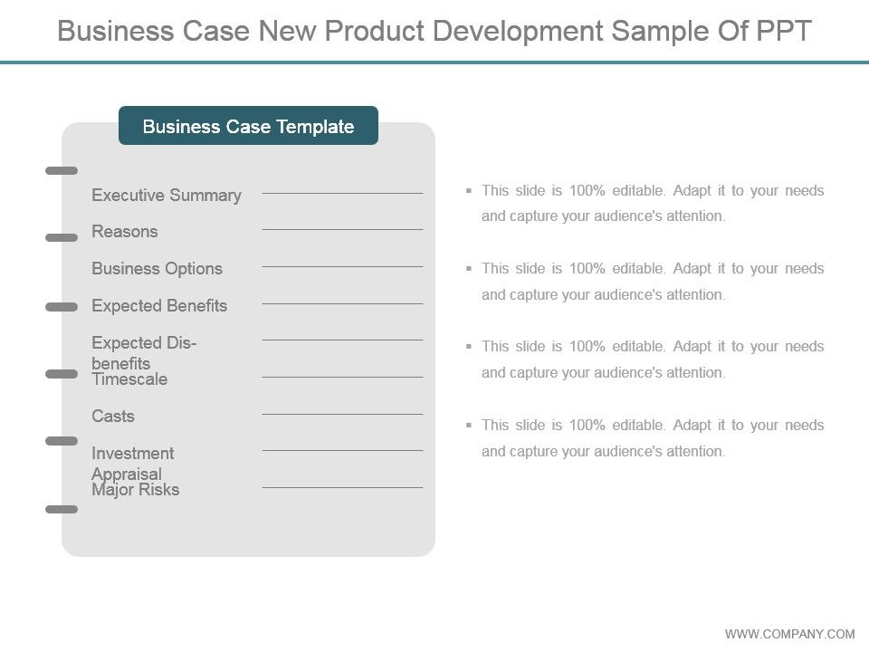 Business Case New Product Development Sample Of Ppt Slide01 Slide02