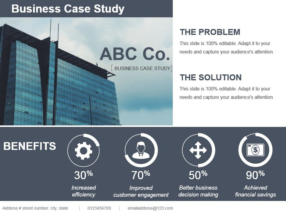 Business Case Study Template Ppt  Template Presentation  Sample Of