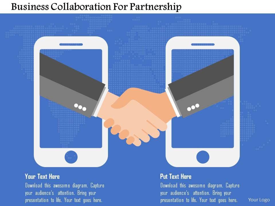 business_collaboration_for_partnership_flat_powerpoint_design_Slide01