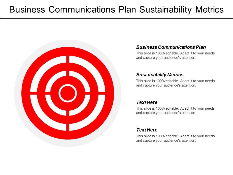 business_communications_plan_sustainability_metrics_corporate_strategy_model_cpb_Slide01