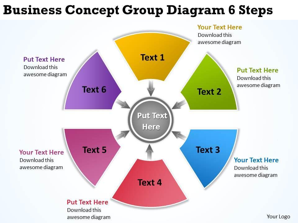 business_concept_group_diagram_6_steps_ppt_powerpoint_slides_Slide01