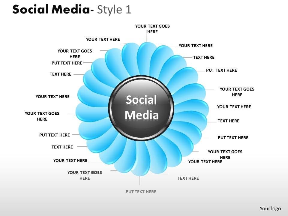 Business Consulting Social Media Flower Shape Social Media Center ...