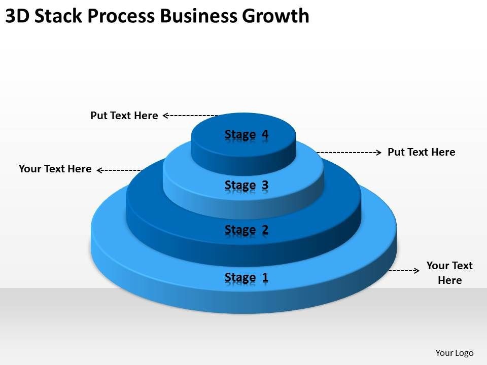 Business Context Diagram 3d Stack Process Growth Powerpoint ...