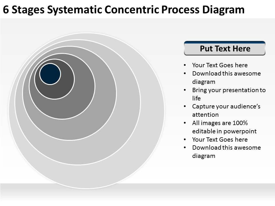 business context diagram concentric process powerpoint. Black Bedroom Furniture Sets. Home Design Ideas