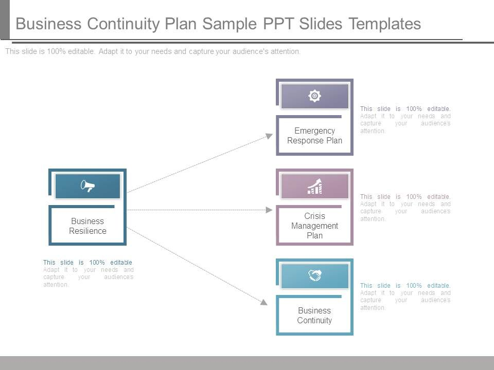 business continuity plan sample ppt slides templates powerpoint
