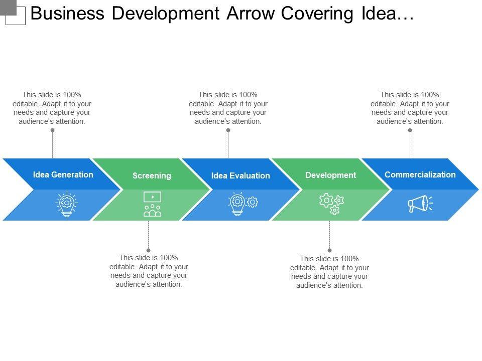 business_development_arrow_covering_idea_generation_evaluation_Slide01