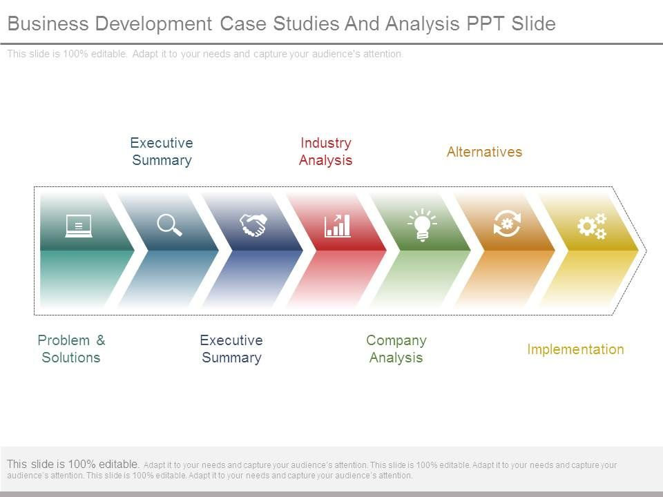 Business Development Case Studies And Analysis Ppt Slide Powerpoint Shapes Powerpoint Slide Deck Template Presentation Visual Aids Slide Ppt