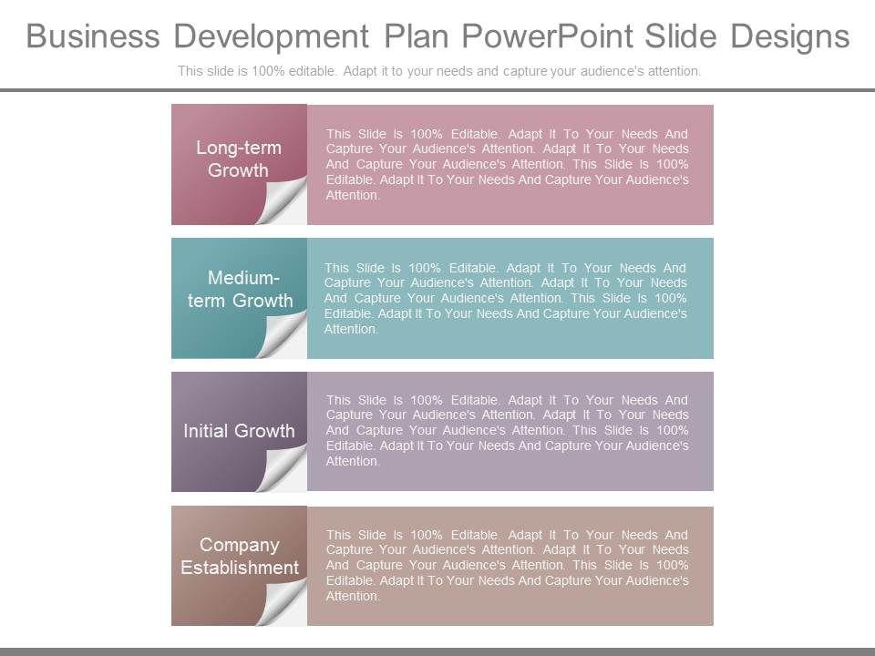 business development plan powerpoint slide designs presentation