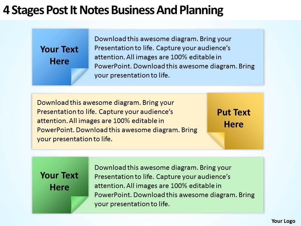 Business Development Process Flowchart Post It Notes And ...
