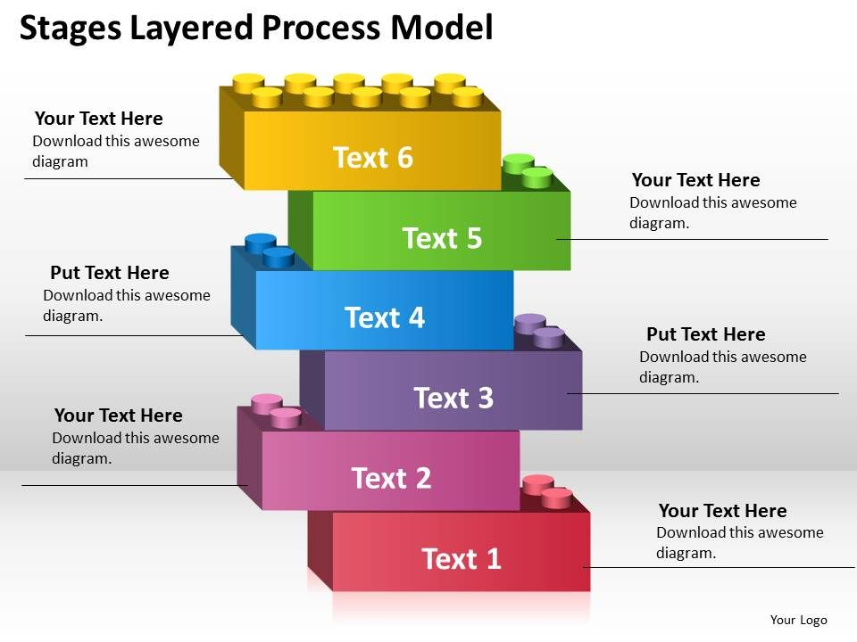 business_diagram_chart_6_stages_layered_process_model_powerpoint_templates_Slide01