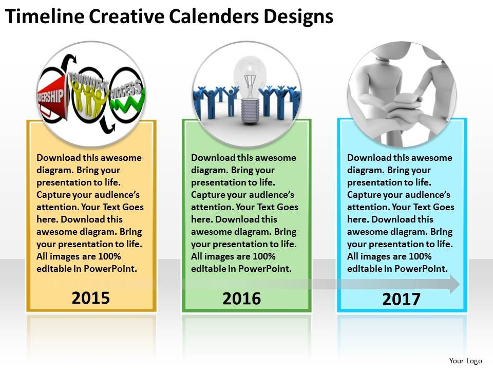 Business Diagram Examples Timeline Creative Calenders Designs