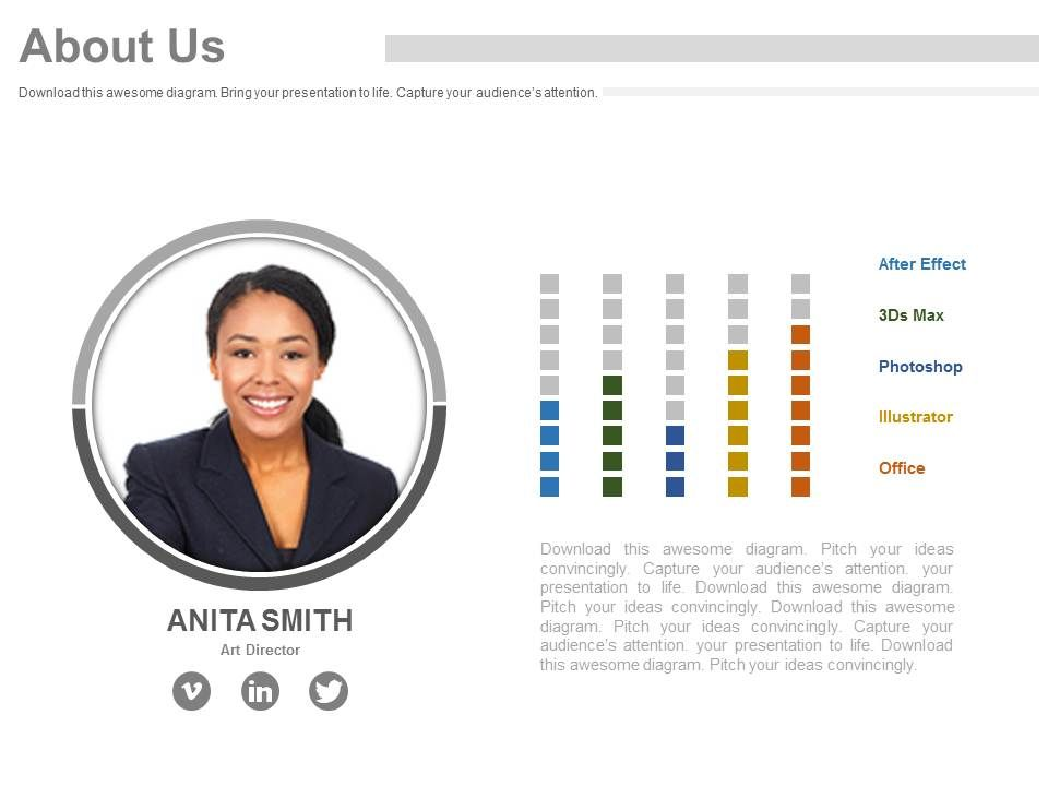 business employee profile for about us powerpoint slides