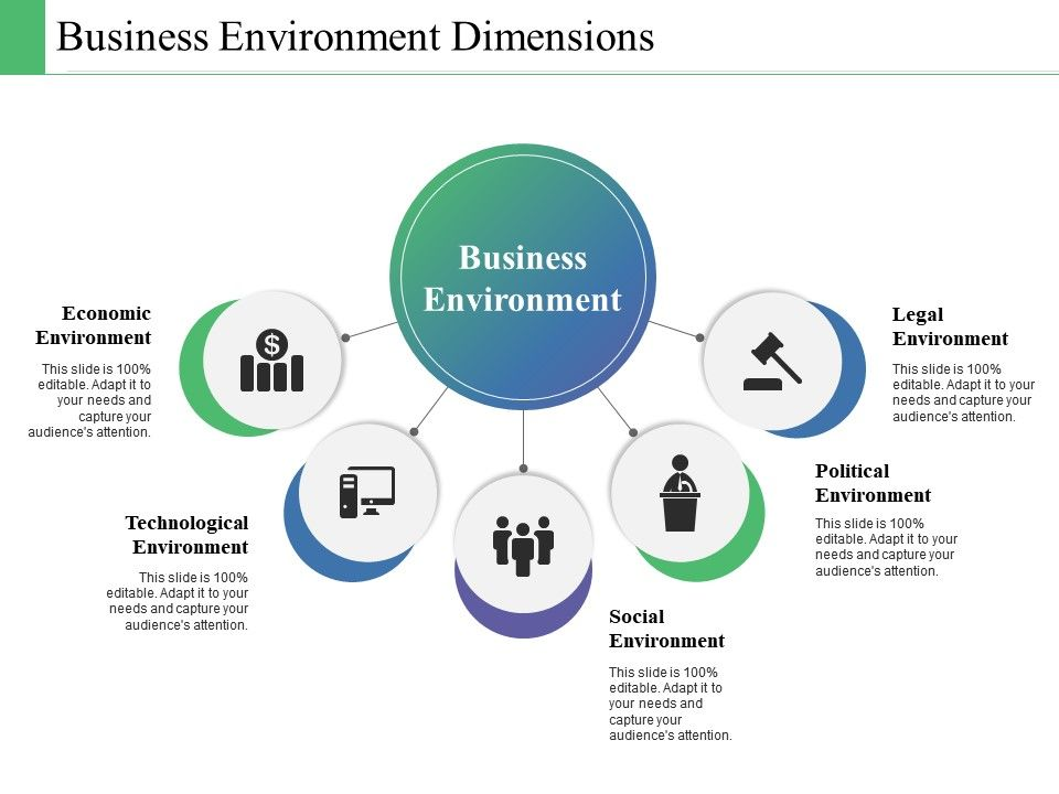 Business Environment Dimensions Ppt Powerpoint Presentation Diagram