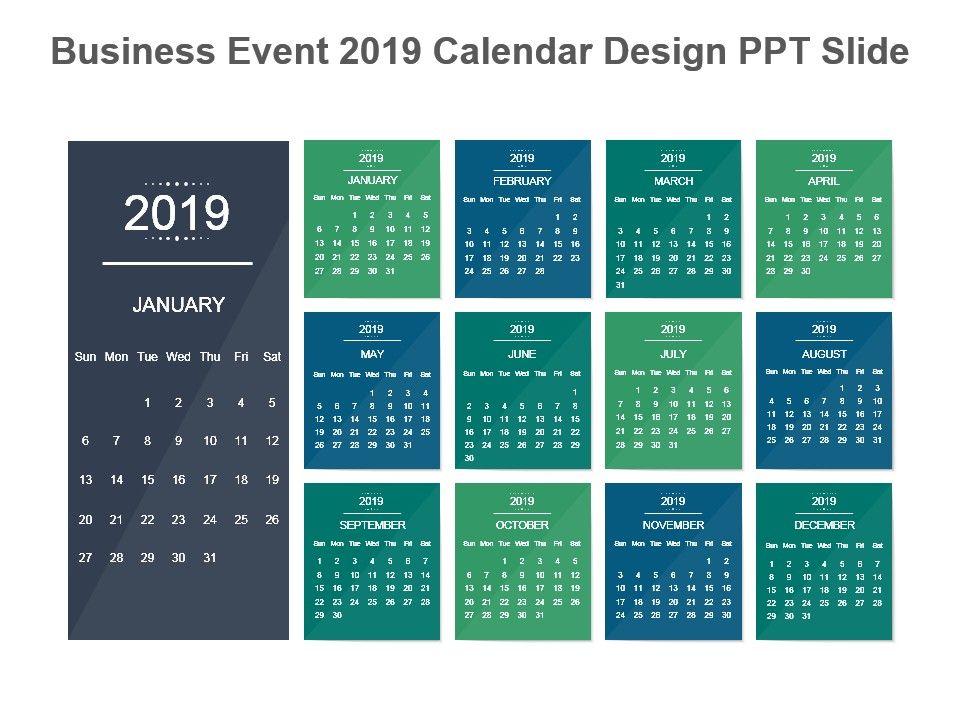 Business Calendar Design : Business event calendar design ppt slide powerpoint