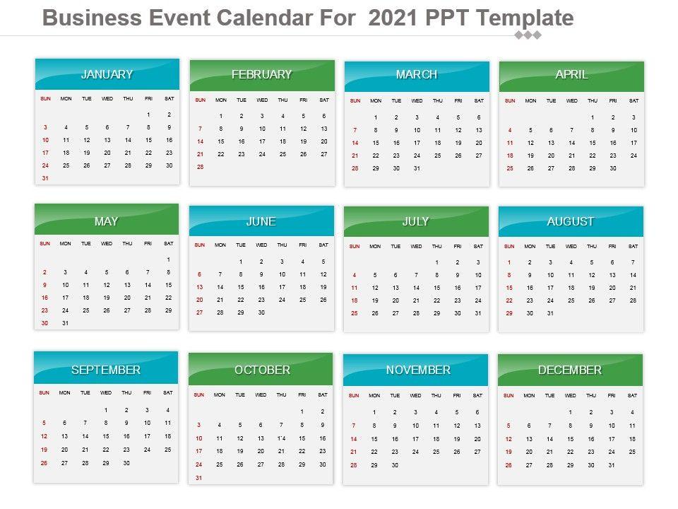Business Event Calendar For 2021 Ppt Template ...