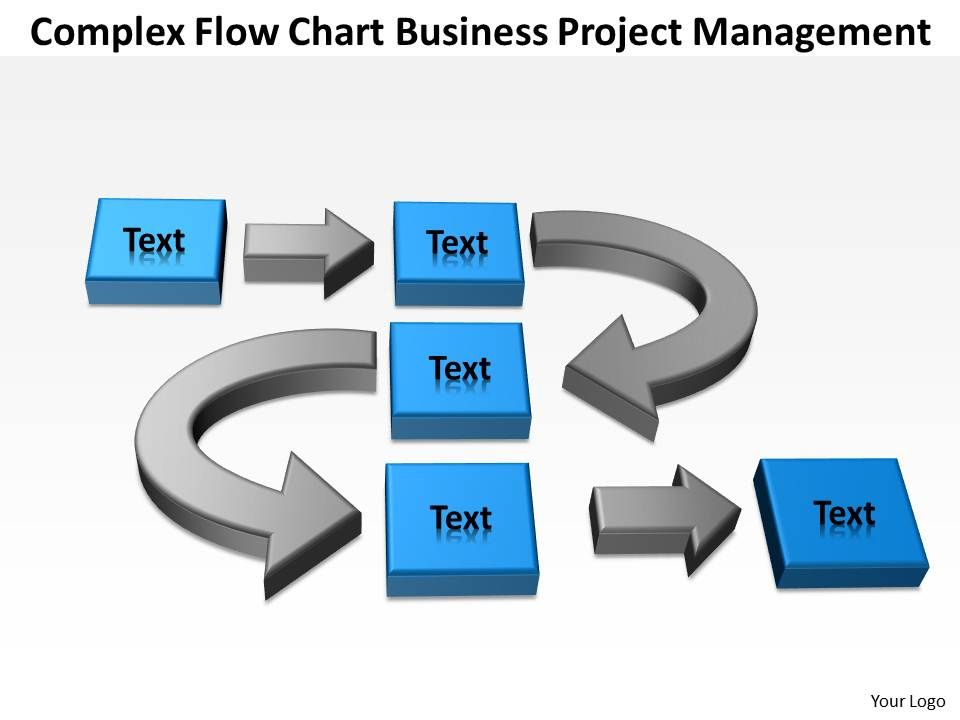 Business Flow Diagram Example Complex Chart Project Management