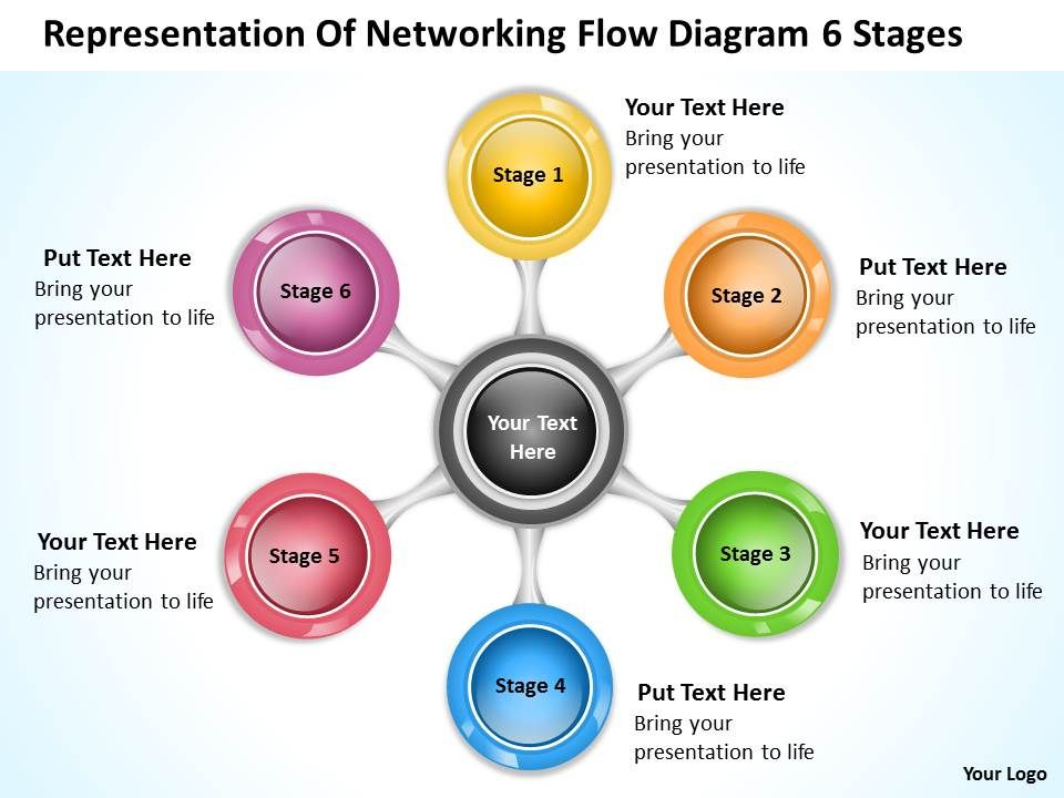 business_flow_diagram_example_of_networking_6_stages_powerpoint_templates_Slide01
