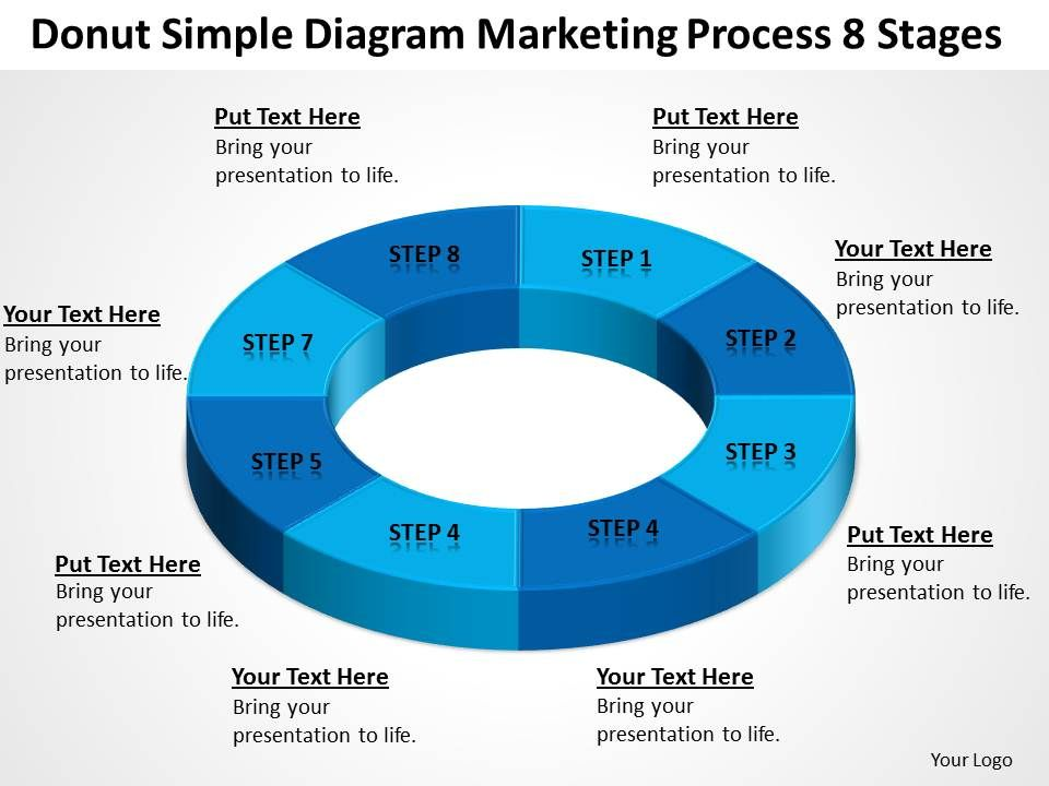 business_flow_diagrams_donut_simple_marketing_process_8_stages_powerpoint_slides_Slide01