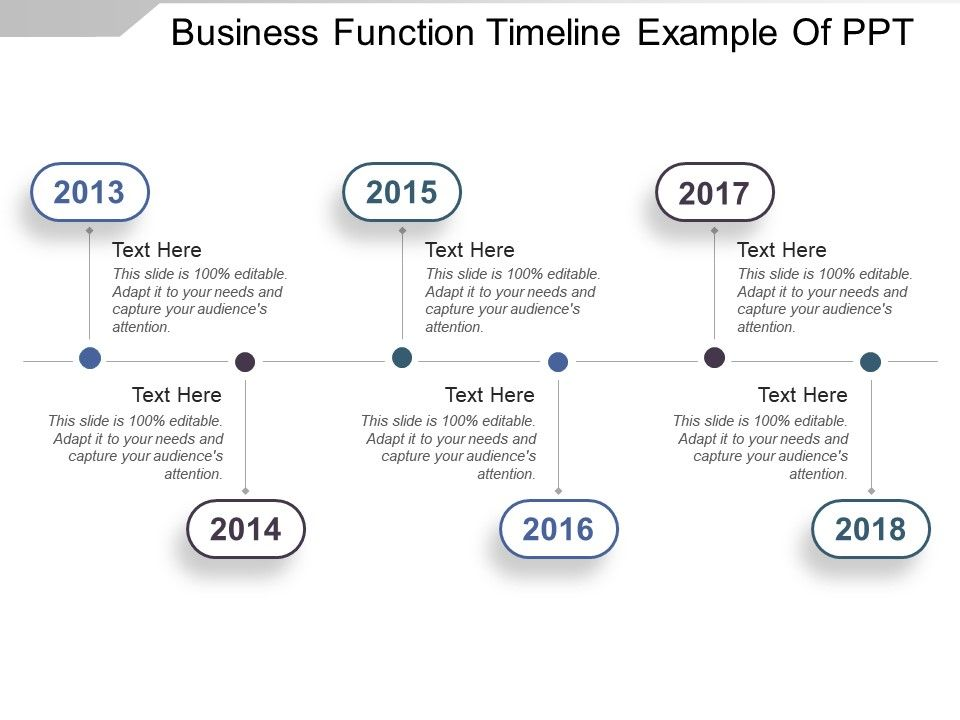 business function timeline example of ppt powerpoint templates