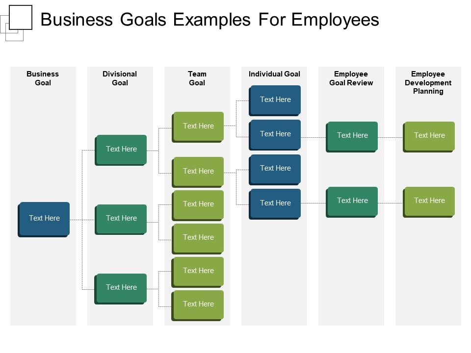 business goals examples for employees powerpoint images