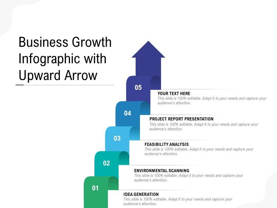 Business Growth Infographic With Upward Arrow