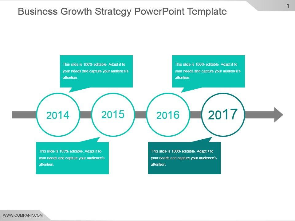 Business Growth Strategy Powerpoint Template Templates Powerpoint