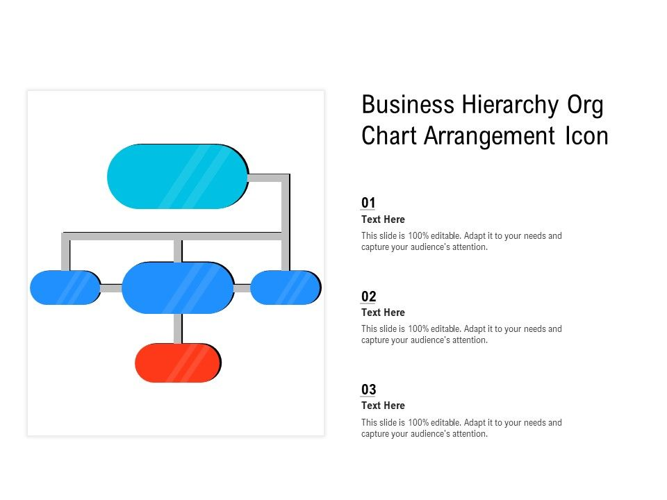 Business Hierarchy Org Chart Arrangement Icon