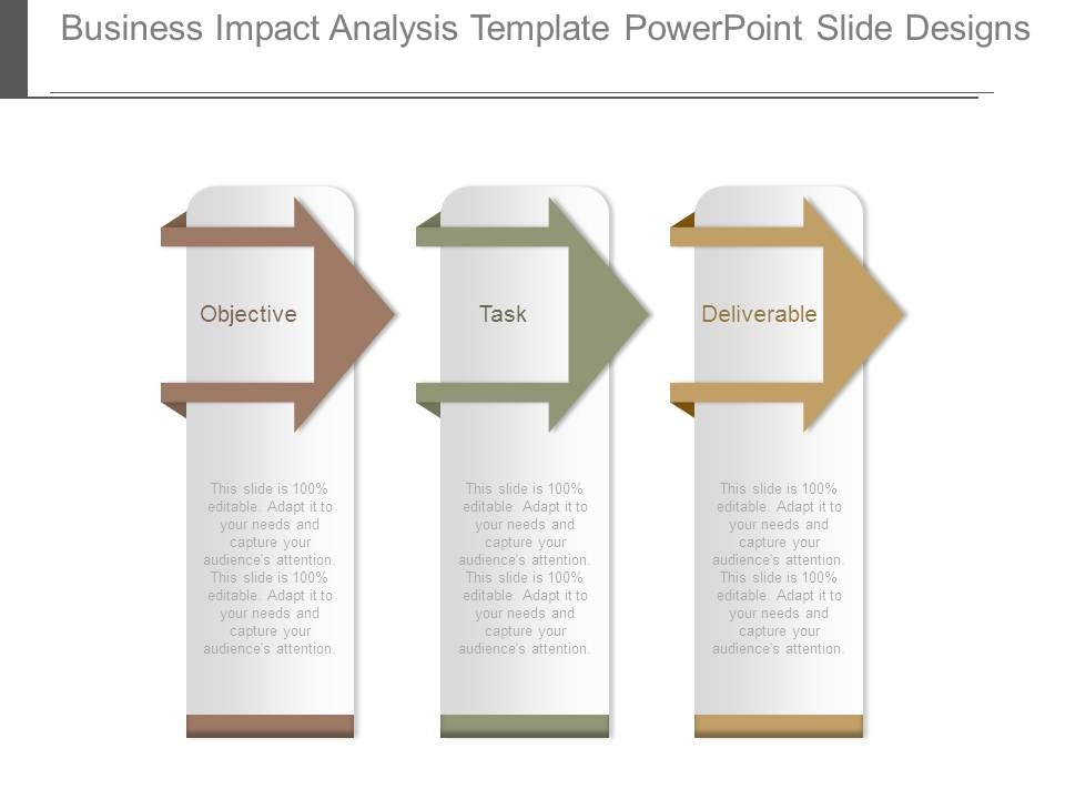 it business impact analysis template - business impact analysis template powerpoint slide designs