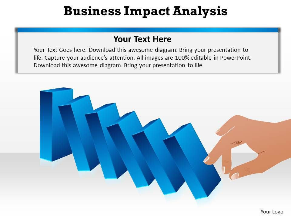 it business impact analysis template - business impact dominoes falling cause and effect analysis
