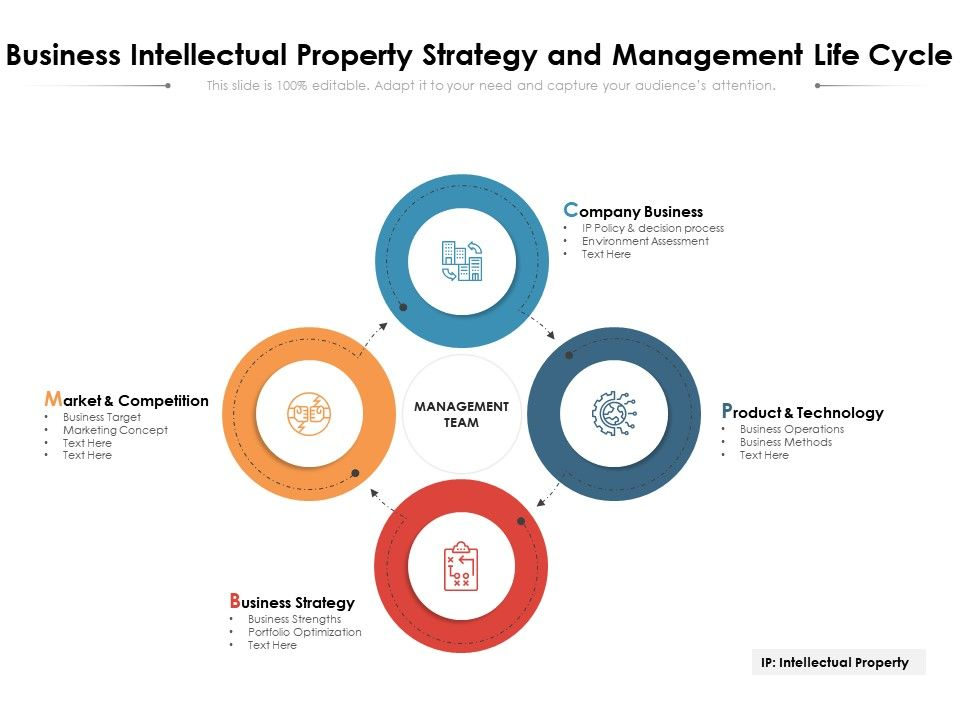 Business Intellectual Property Strategy And Management Life Cycle