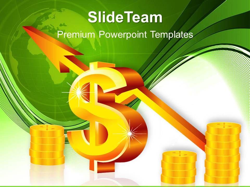 business_intelligence_architecture_presentation_dollar_arrow_chart_ppt_template_powerpoint_Slide01