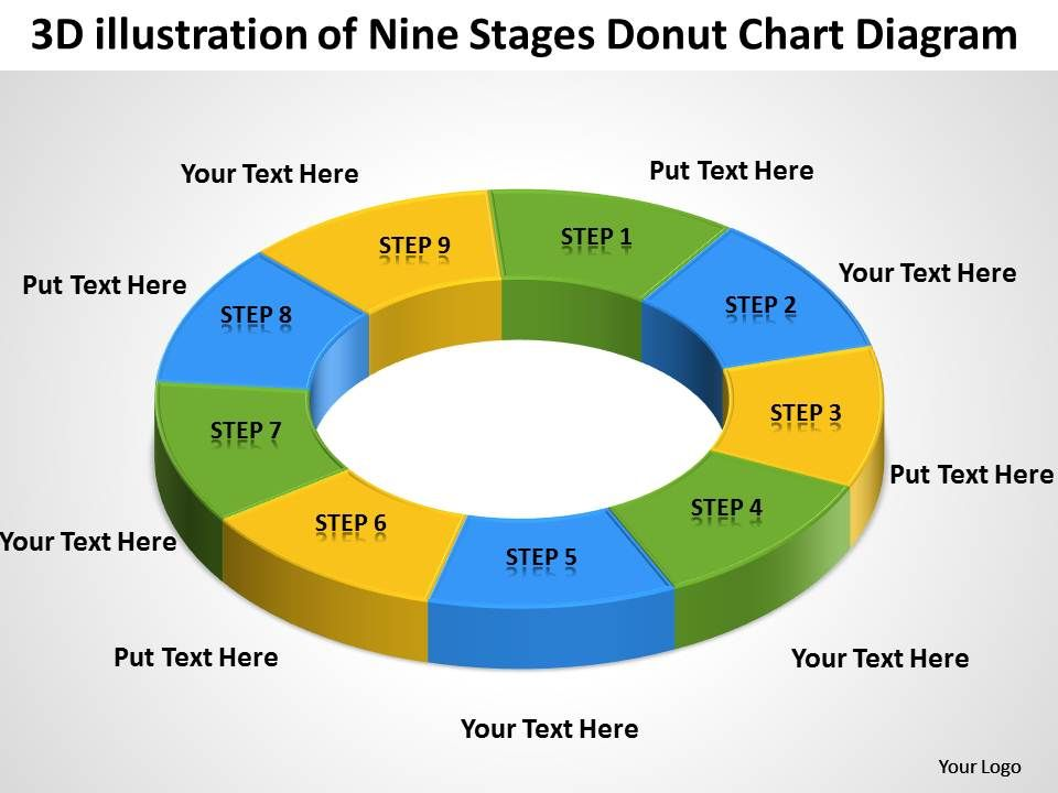 business intelligence diagram donut chart powerpoint templates ppt, Modern powerpoint