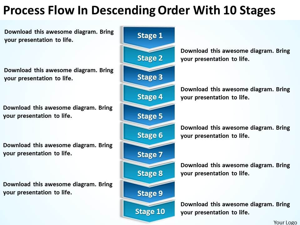 Business intelligence diagram process flow descending order with 10 businessintelligencediagramprocessflowdescendingorderwith10stagespowerpointtemplatesslide01 wajeb Image collections