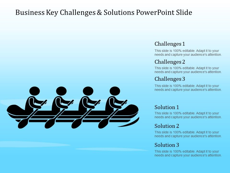 Business Key Challenges And Solutions Powerpoint Slide ...