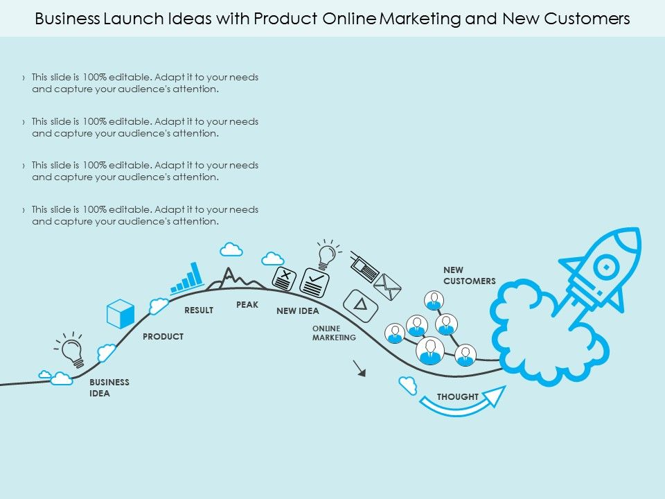 business_launch_ideas_with_product_online_marketing_and_new_customers_Slide01
