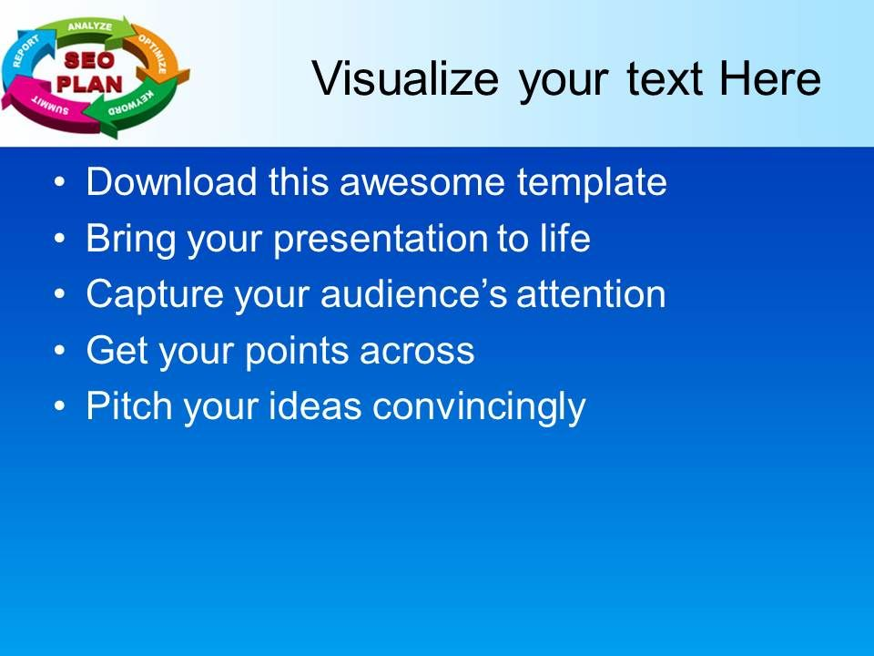 Business Level Strategy Definition Powerpoint Templates Seo Plan