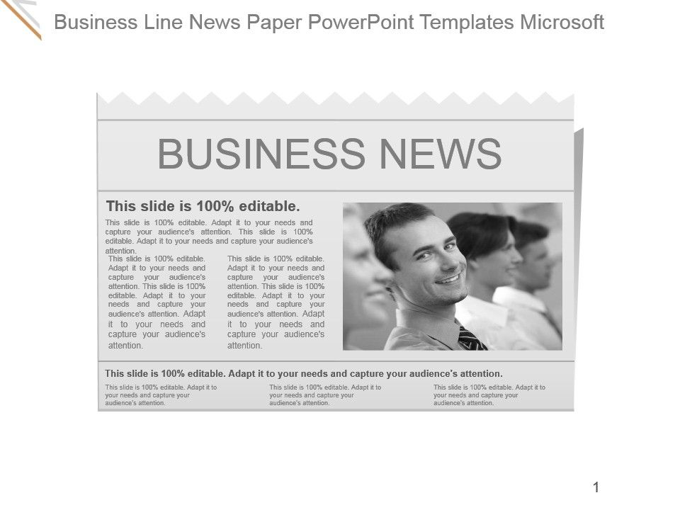 Business Line News Paper Powerpoint Templates Microsoft Templates