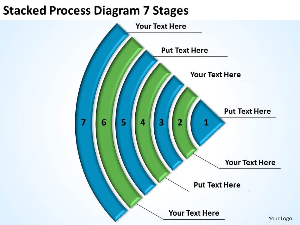 business logic diagram stacked process 7 stages powerpoint. Black Bedroom Furniture Sets. Home Design Ideas