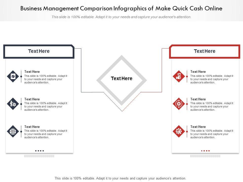 Business Management Comparison Infographics Of Make Quick Cash Online Infographic Template