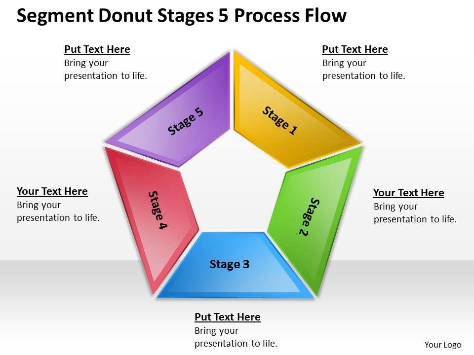 Business Management Consultants 5 Process Flow Powerpoint Templates