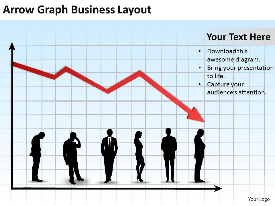 Business Management Consulting Arrow Graph Layout Powerpoint